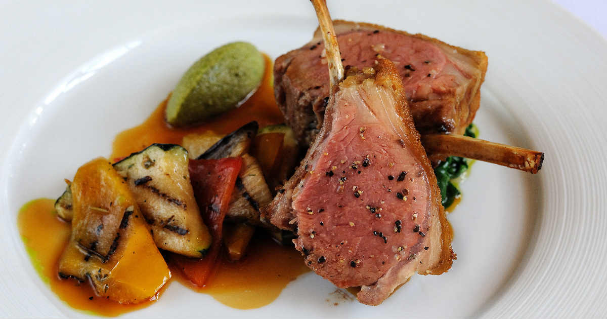 Crusted Rack Of Lamb | Montagu Arms Hotel1