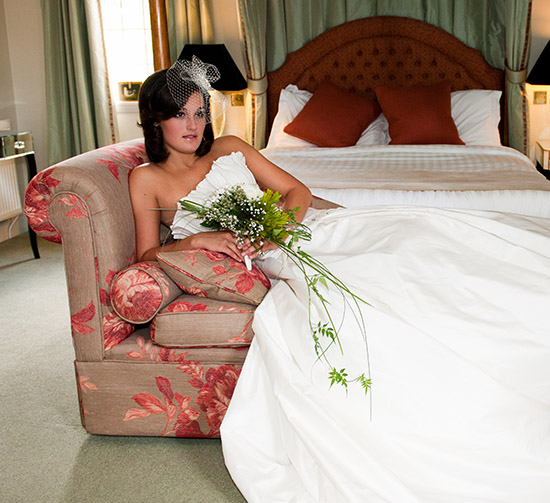 A bride getting married in our luxury wedding venue in Hampshire