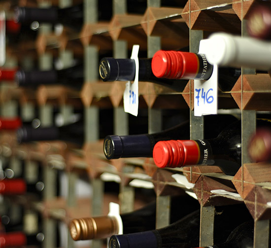 A selection of fine wines to compliment our fine dining experience